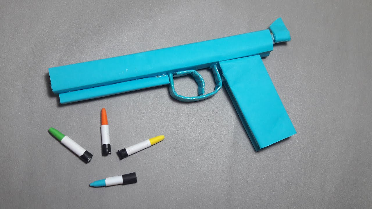 How To Make A Origami Gun Diy How To Make A Paper Ghost Gun That Shoots Paper Bullets Toy Weapons Dr Origami