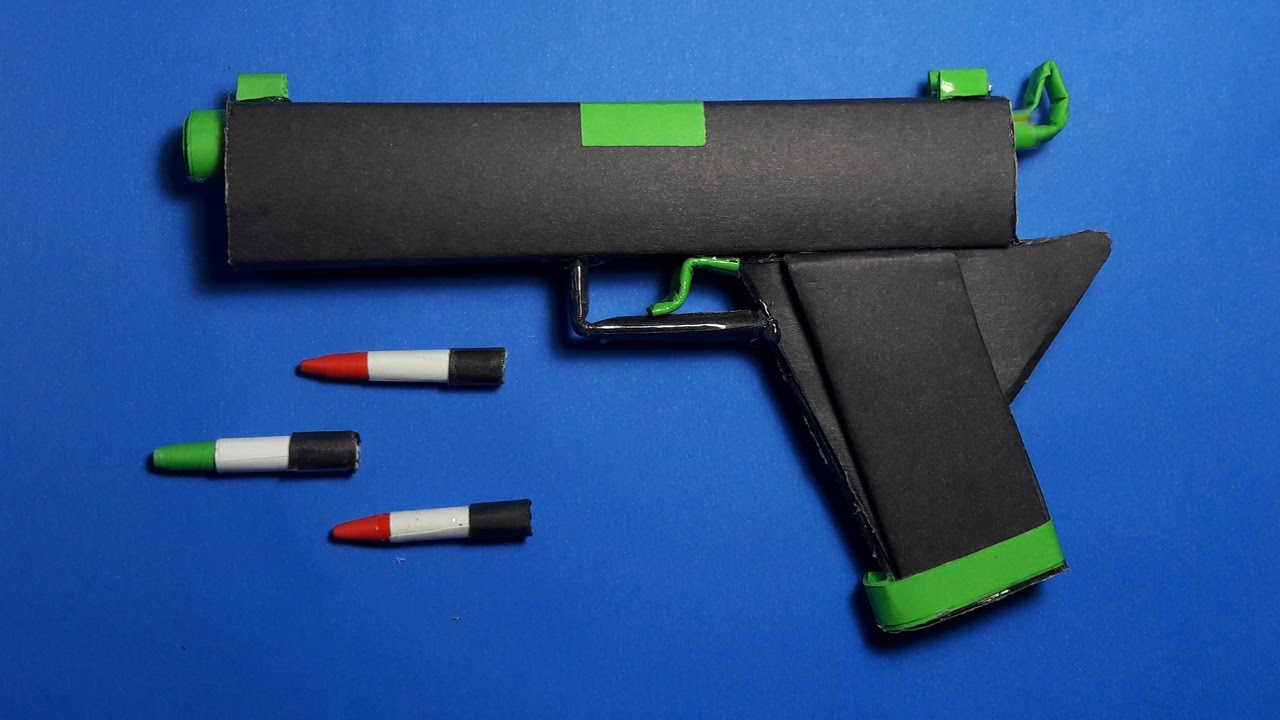 How To Make A Origami Gun Diy How To Make A Paper Radiation Gun That Shoots Paper Bullets Toy Weapons Drorigami