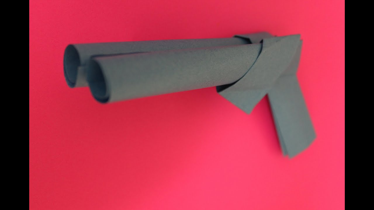 How To Make A Origami Gun How To Make A Paper Gun Origami Instruction Double Barrel