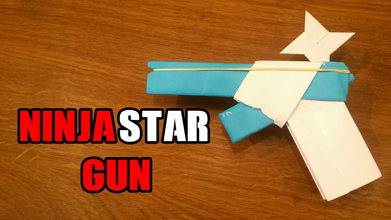 How To Make A Origami Gun How To Make A Paper Gun That Shoots Ninja Stars With Trigger