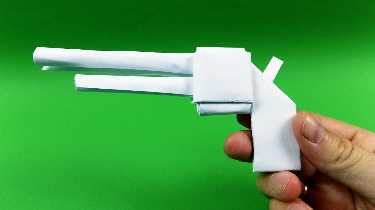 How To Make A Origami Gun How To Make Easy Paper Origami Gun Pistol Tutorial