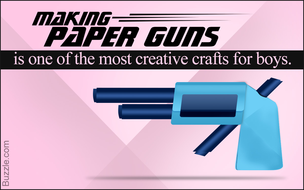How To Make A Origami Gun Simple Diy Steps On How To Make A Paper Gun That Shoots