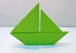 How To Make A Origami Sailboat How To Make 2d Paper Sailboat Easy Origami Paper Boat Tutorial For Kids
