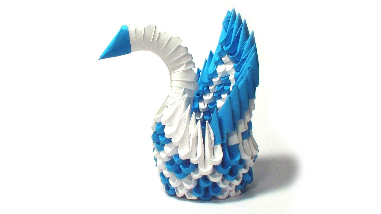 How To Make An Origami 3D Swan 3d Origami Mini Diamond Patern Swan Tutorial