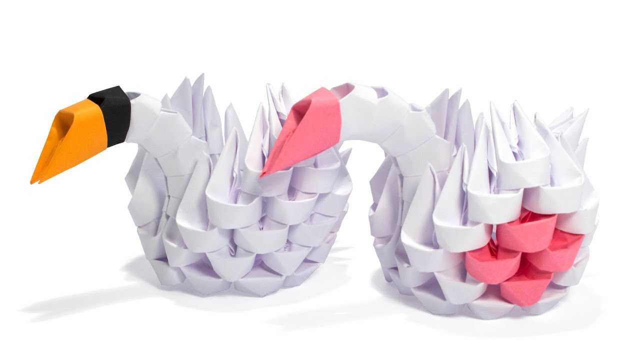 How To Make An Origami 3D Swan 3d Origami Simple Swan Tutorial