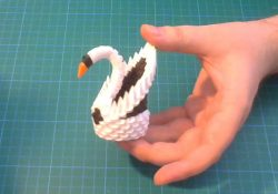 How To Make An Origami 3D Swan 3d Origami Small Swan Tutorial Diy Paper Small Swan