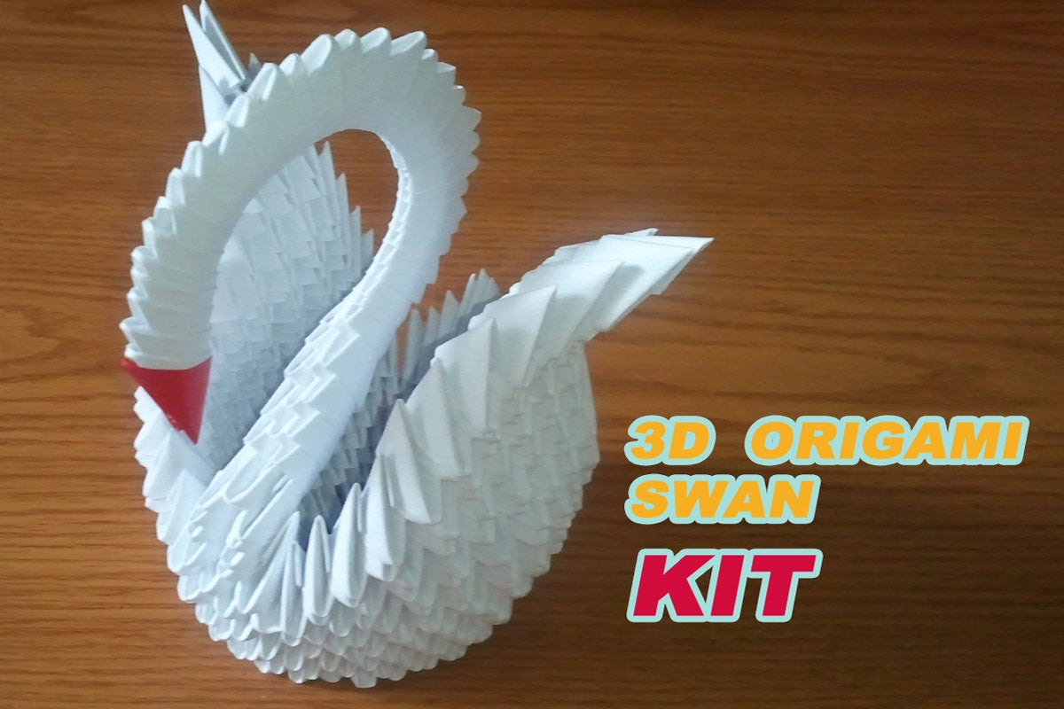 How To Make An Origami 3D Swan 3d Origami Swan Kit