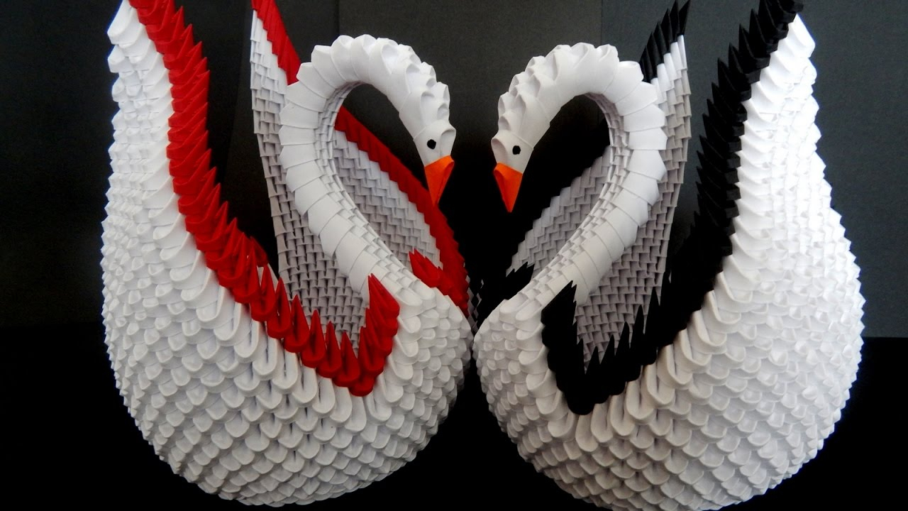 How To Make An Origami 3D Swan 3d Origami Swan Tutorial Diy Paper Crafts Swan