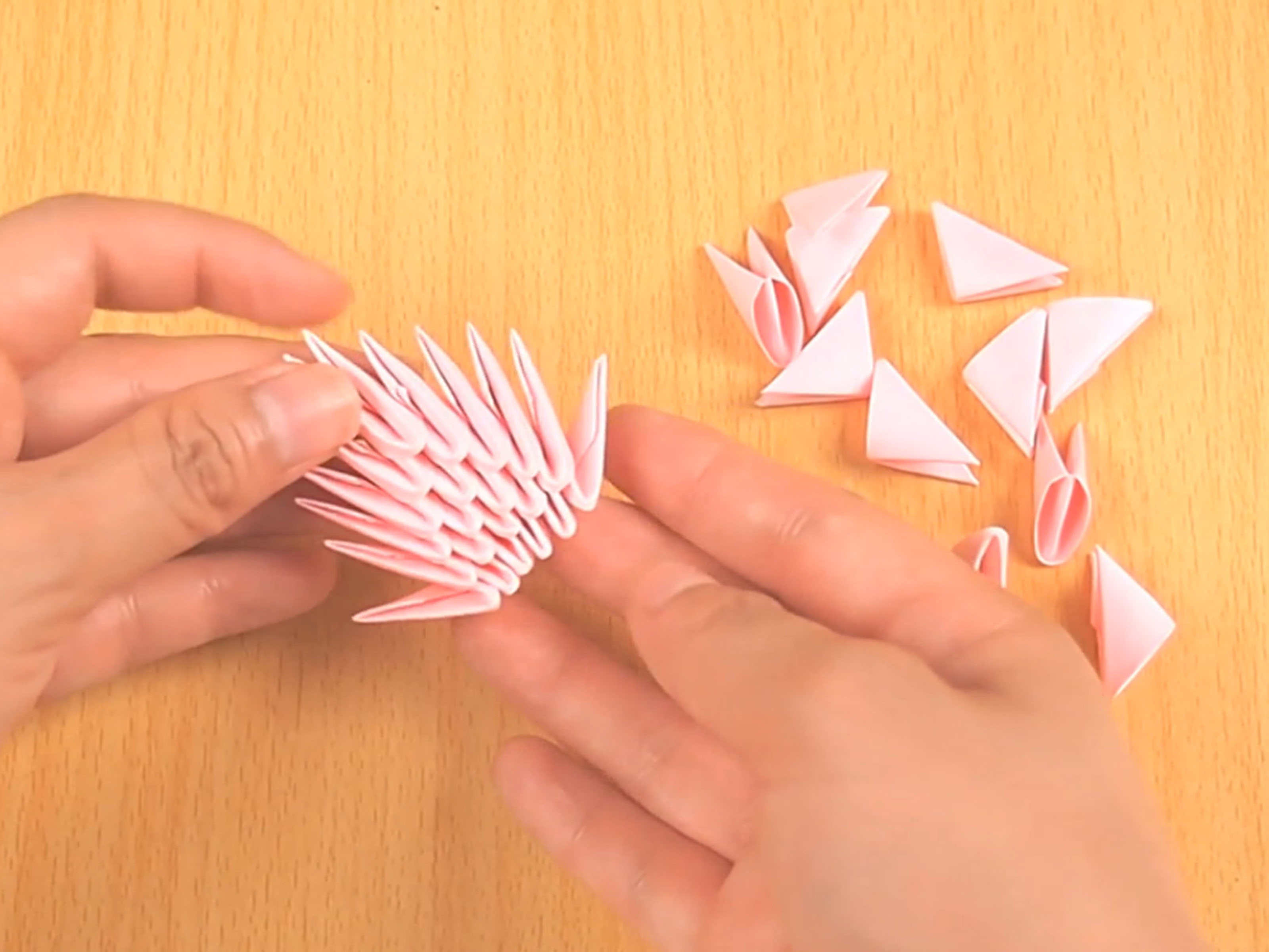 How To Make An Origami 3D Swan How To Make 3d Origami Pieces With Pictures Wikihow