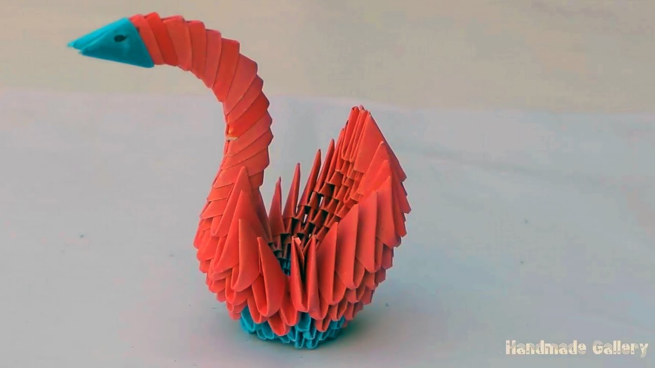 How To Make An Origami 3D Swan How To Make A 3d Paper Swan Easy Tutorial