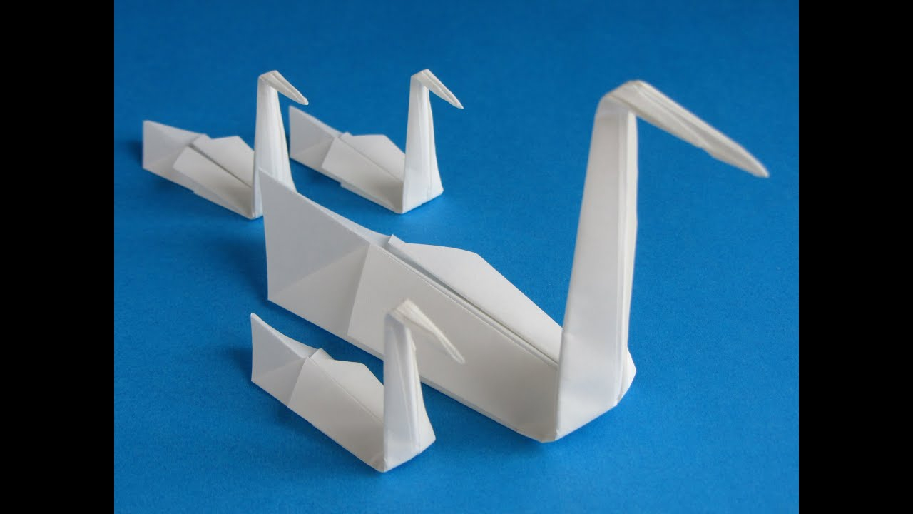 How To Make An Origami 3D Swan Origami Swan Folding Instructions How To Fold An Origami Swan