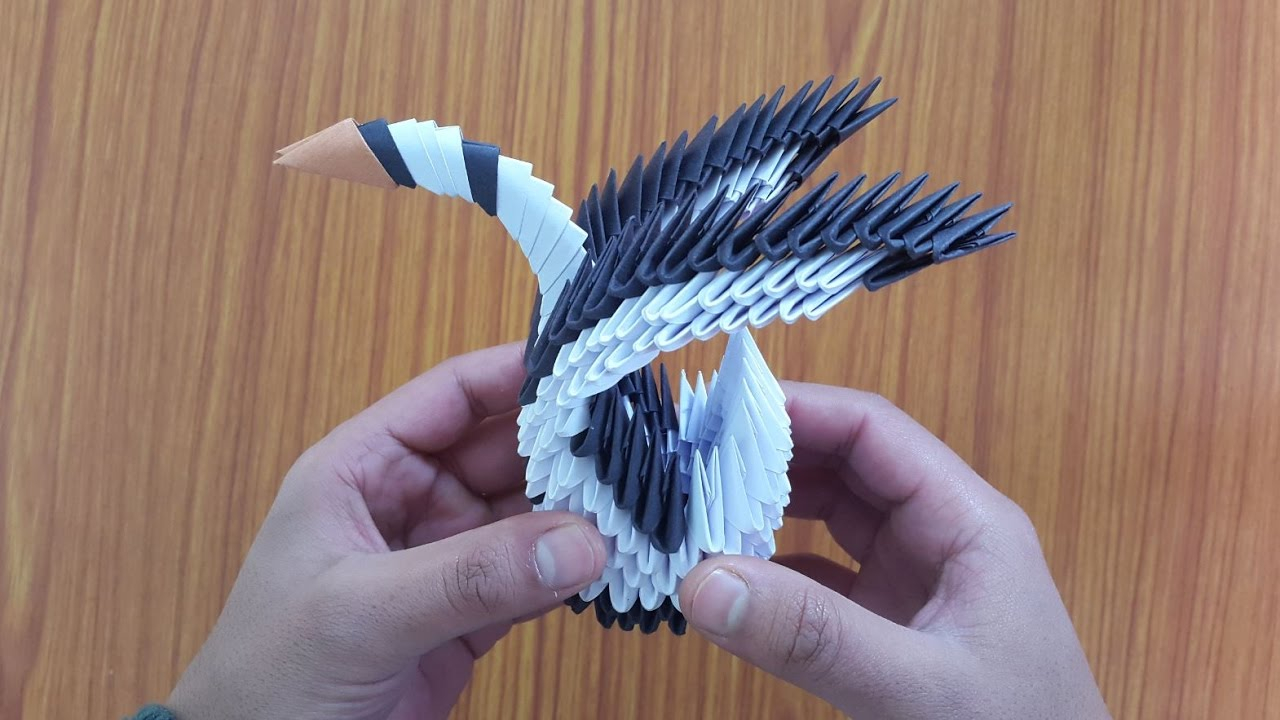 How To Make An Origami 3D Swan Swan Craft And Origami