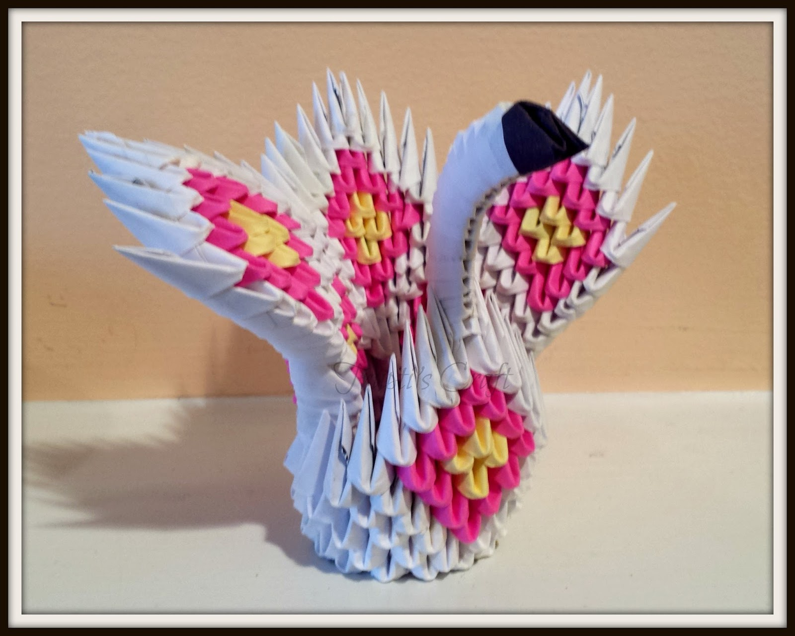 How To Make An Origami 3D Swan Truptis Craft 3d Origami Mini Swan