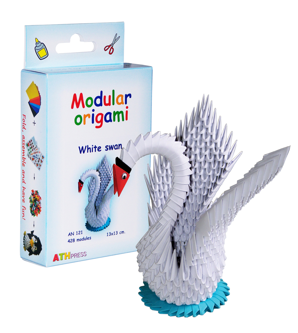 How To Make An Origami 3D Swan White Swan 428 Modules