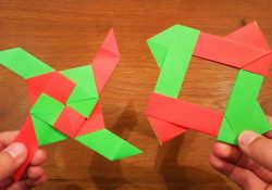 How To Make An Origami Double Ninja Star How To Make A Paper Transforming Ninja Star 2 Origami
