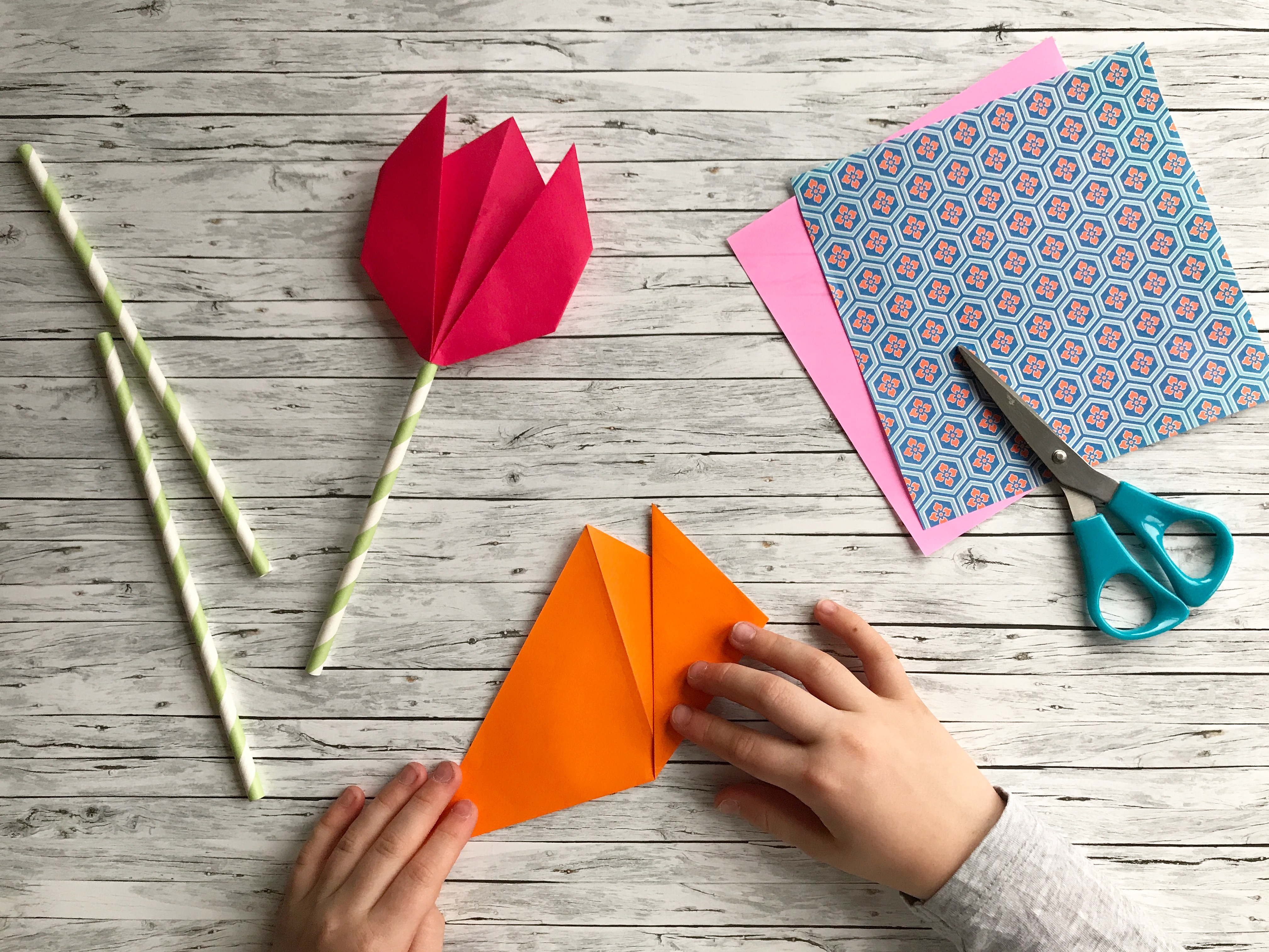 How To Make An Origami Tulip Easy Peasy Origami Tulips The Bear The Fox