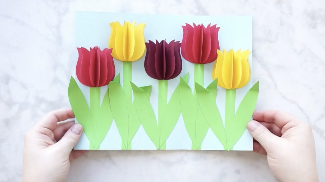 How To Make An Origami Tulip Gorgeous 3d Paper Tulip Flower Craft