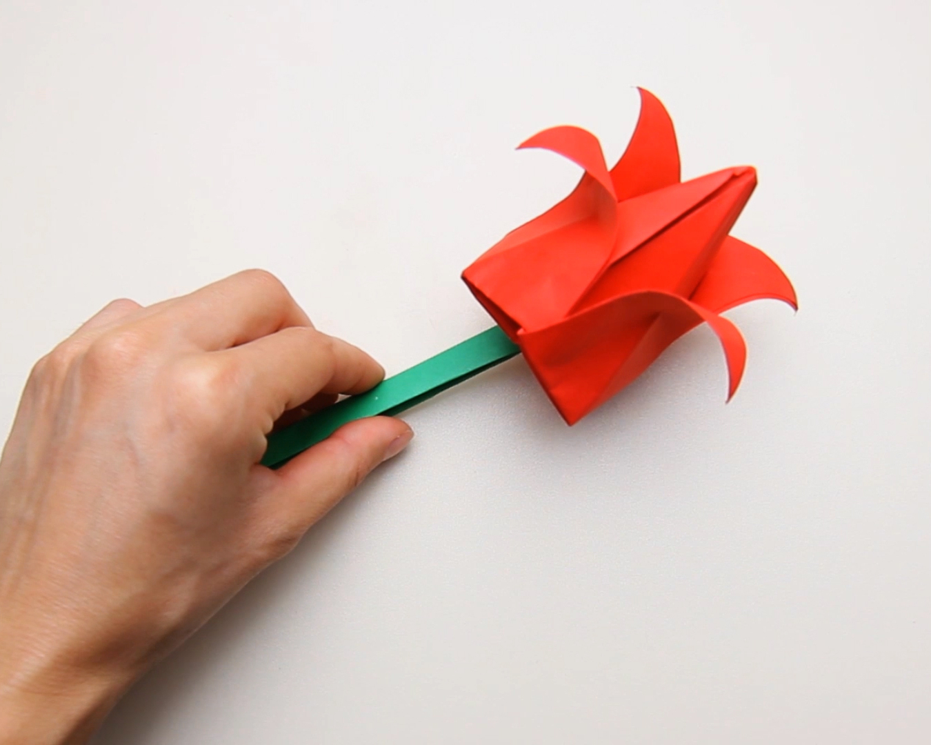 How To Make An Origami Tulip How To Make A Full Paper Tulip With Pictures Wikihow
