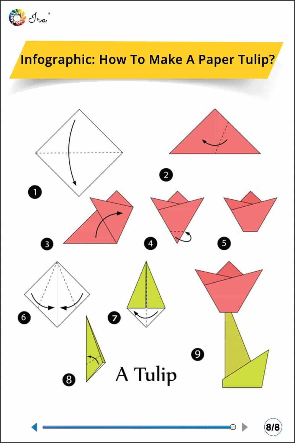 How To Make An Origami Tulip How To Make A Paper Tulip Ira Parenting