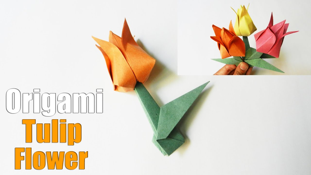 How To Make An Origami Tulip How To Make An Origami Tulip Flower Easy Paper Flower Tutorial