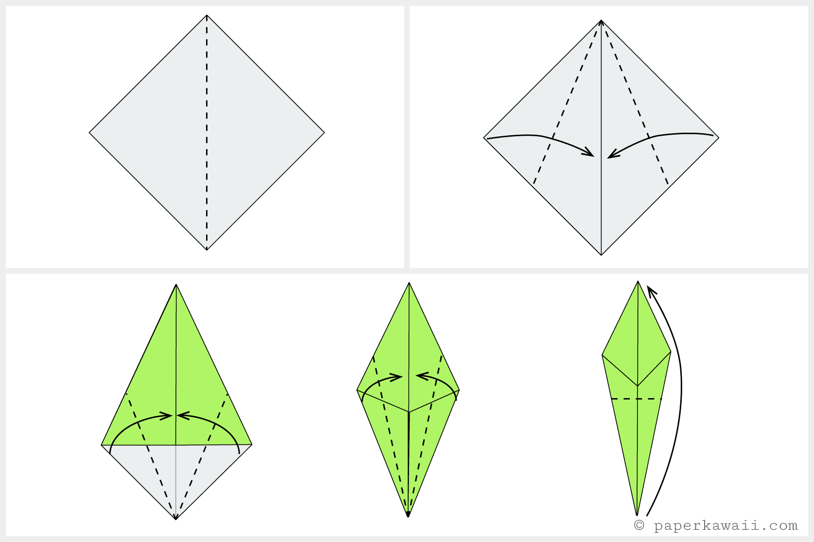 How To Make An Origami Tulip How To Make An Origami Tulip Flower Stem