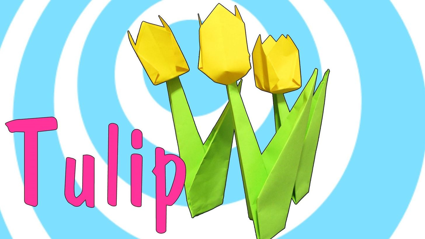 How To Make An Origami Tulip How To Make An Origami Tulip Flower With Stem Origami Wonderhowto