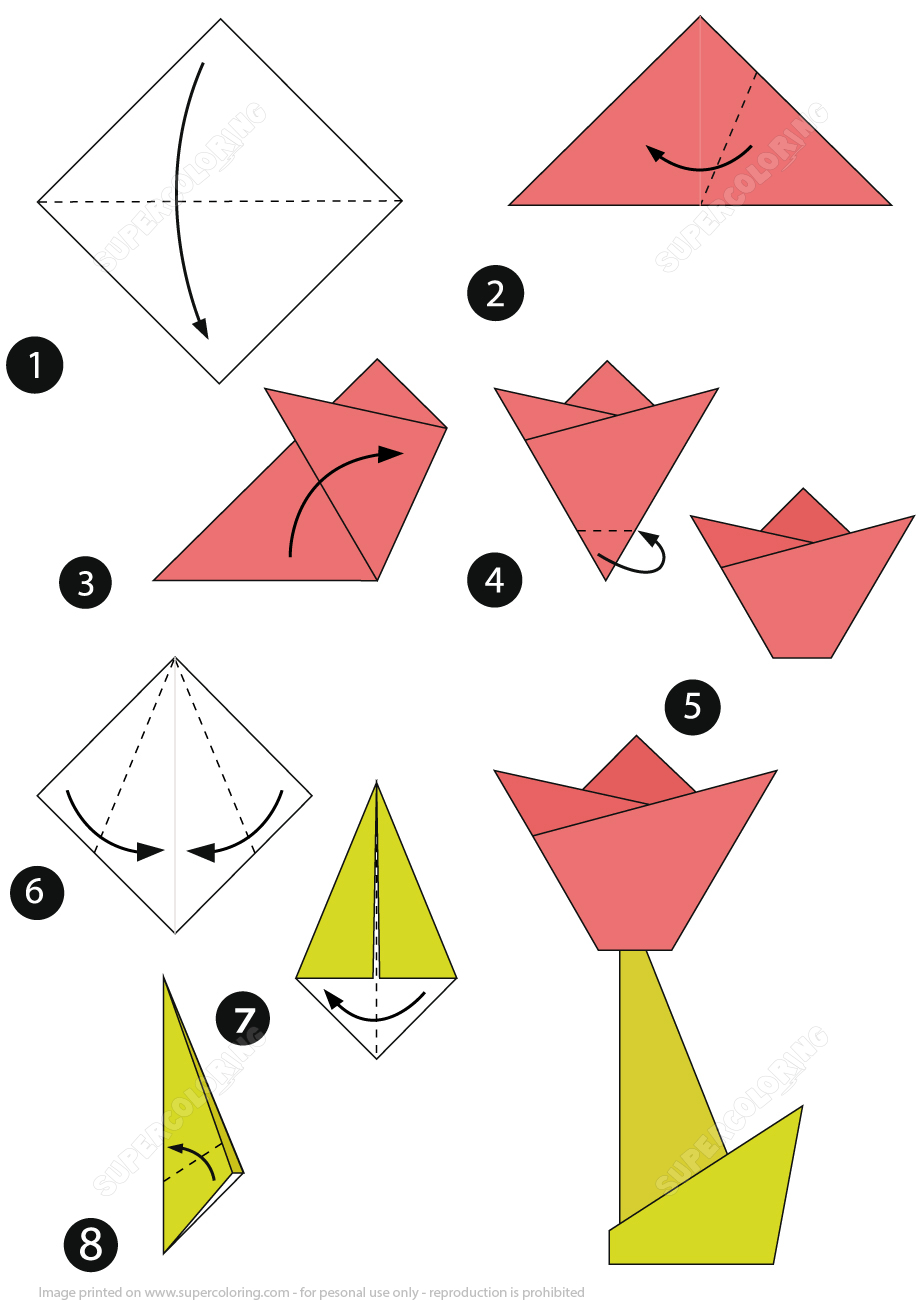How To Make An Origami Tulip How To Make An Origami Tulip Step Step Instructions Free