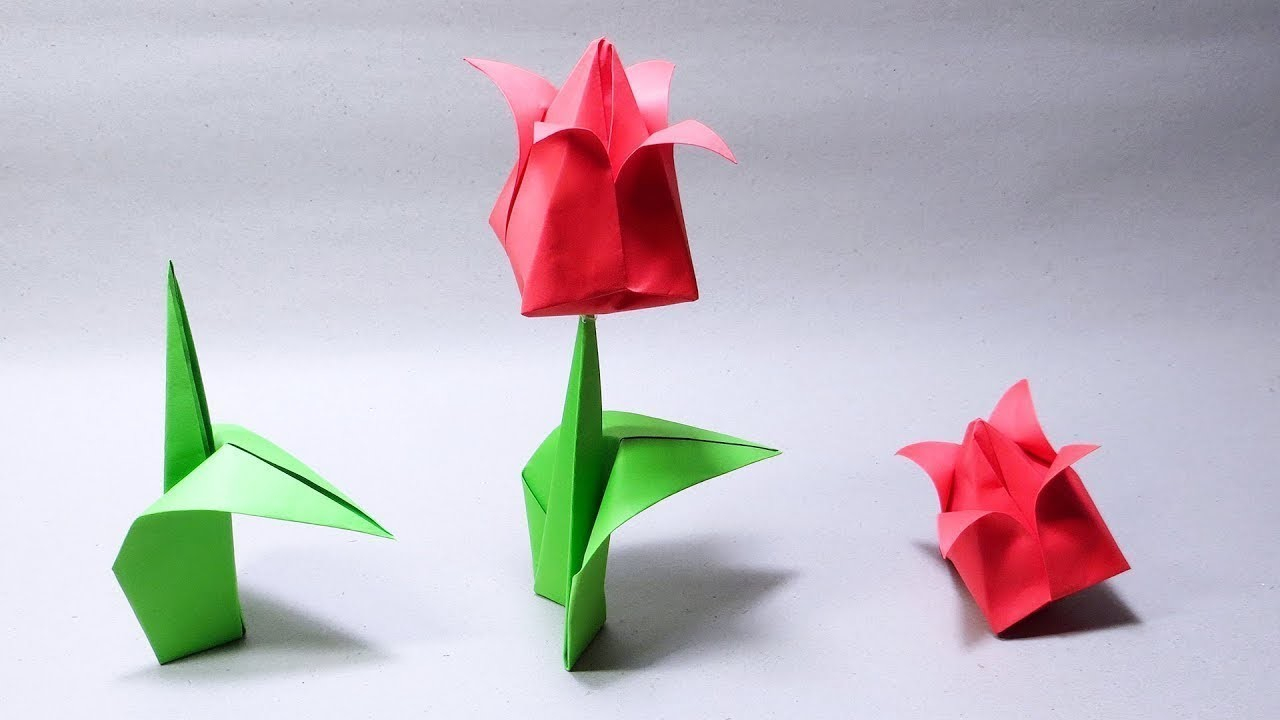 How To Make An Origami Tulip How To Make An Origami Tulip