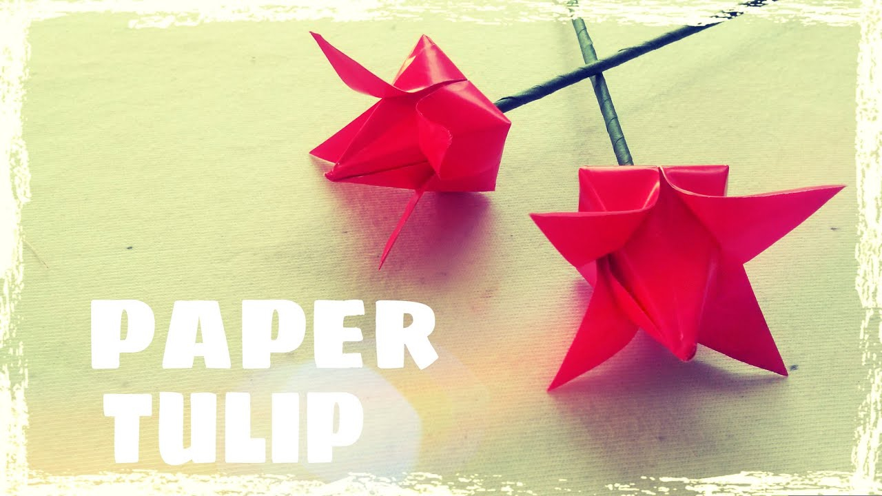 How To Make An Origami Tulip Origami Tulip Instructions Origami Easy