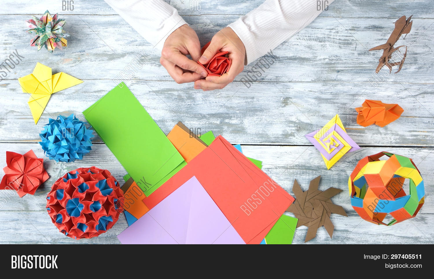 How To Make An Origami Tulip Origami Tulip Man Image Photo Free Trial Bigstock