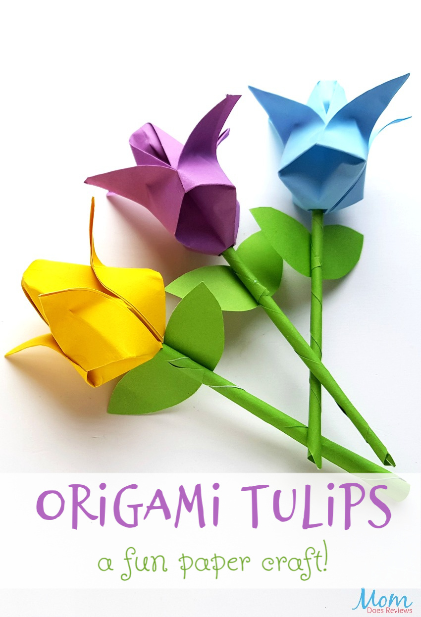 How To Make An Origami Tulip Origami Tulips A Fun Paper Craft