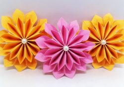 How To Make Flowers With Origami Diy Paper Flowers Easy Making Tutorial Origami Flower Paper Crafts Ideas