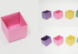How To Make Origami Box Easy How To Make A Paper Box Easy Origami Box