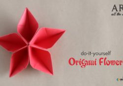 How To Make Origami Flower How To Fold Origami Flower Do It Yourself