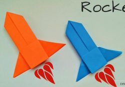 How To Make Origami Rocket Origami Rocket How To Make A Paper Rocket Launcherspaceship Easy Origami Rocket Instructions