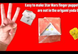 How To Make Origami Star Wars Finger Puppets How To Make 3 Easy Star War Finger Puppets