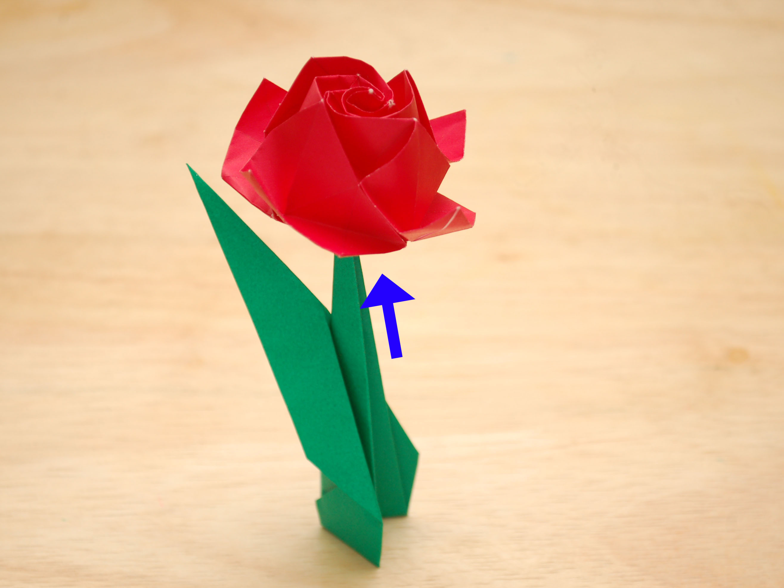 How To Origami Rose How To Fold A Paper Rose With Pictures Wikihow