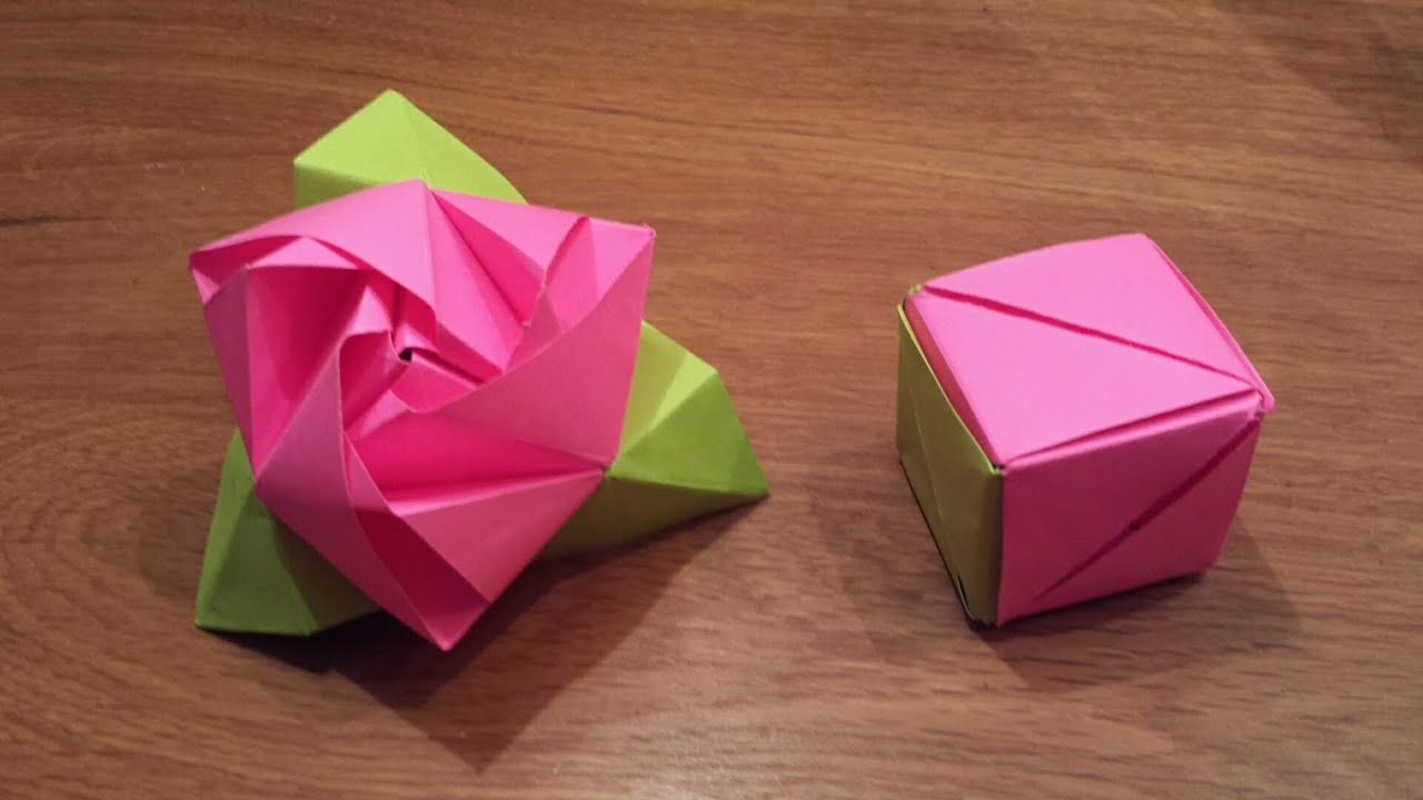 How To Origami Rose How To Make An Origami Magic Rose Cube Valerie Vann