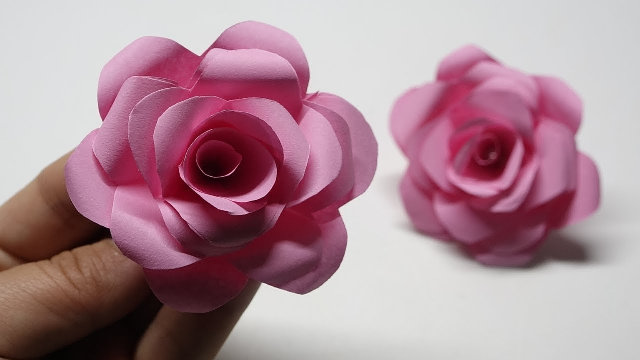 How To Origami Rose How To Make Paper Flower Easy Origami Rose Time Lapse