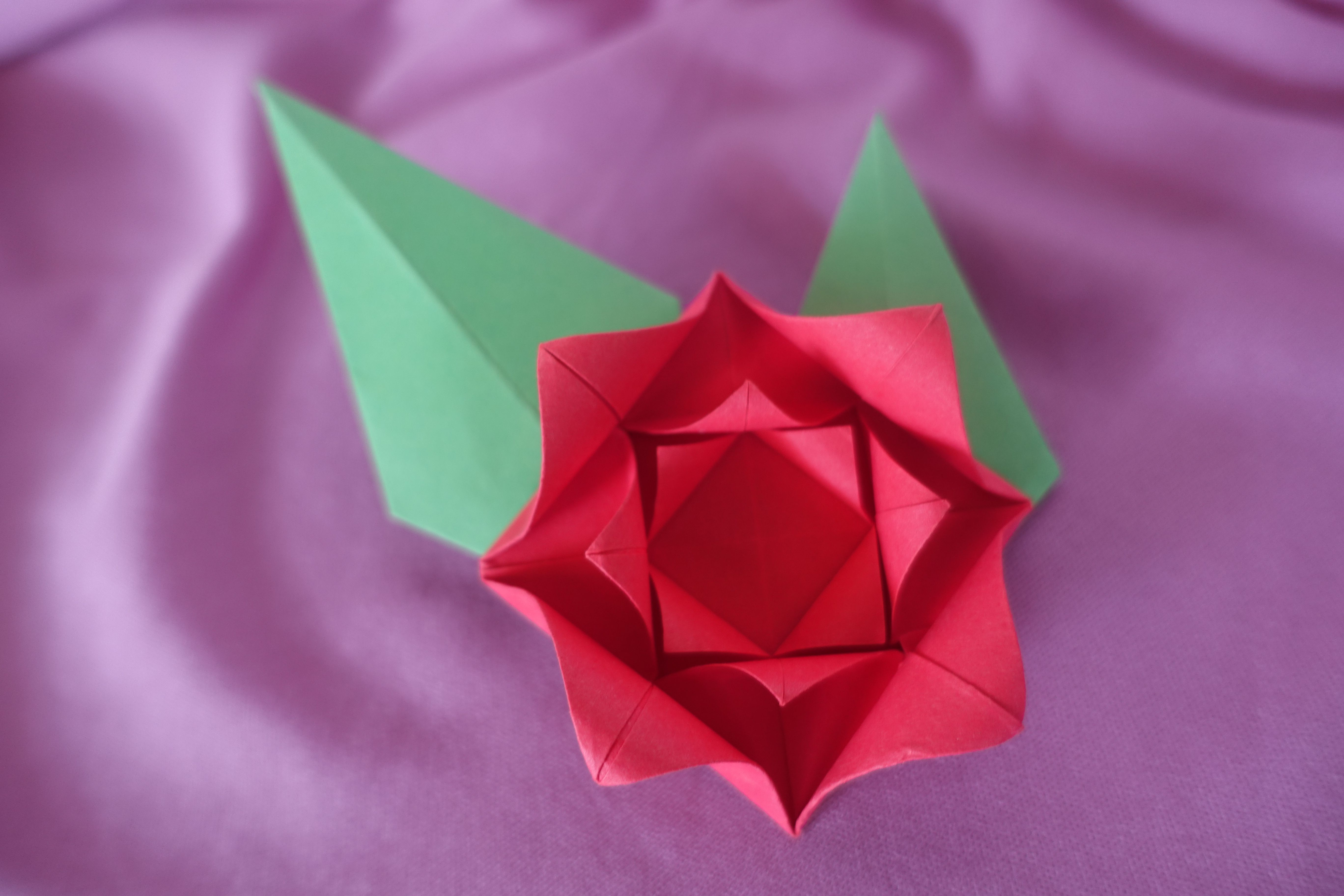 How To Origami Rose Make An Easy Origami Rose