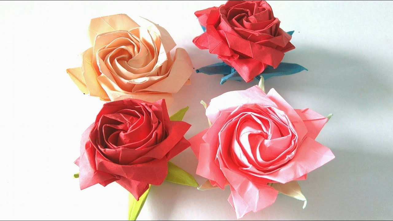 How To Origami Rose Origami Flower How To Make An Origami Pentagon Rose Step Step