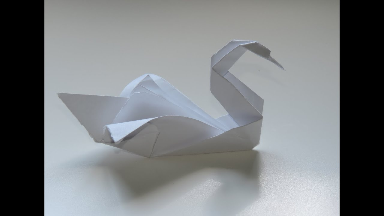 How To Origami Swan Origami Swan Easy Instructions Full Hd