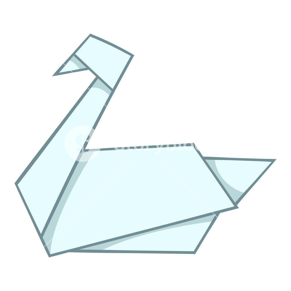How To Origami Swan Origami Swan Icon Cartoon Illustration Of Origami Swan Vector Icon