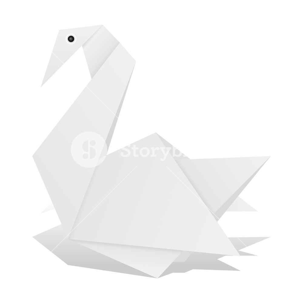 How To Origami Swan Origami Swan On A White Background Royalty Free Stock Image
