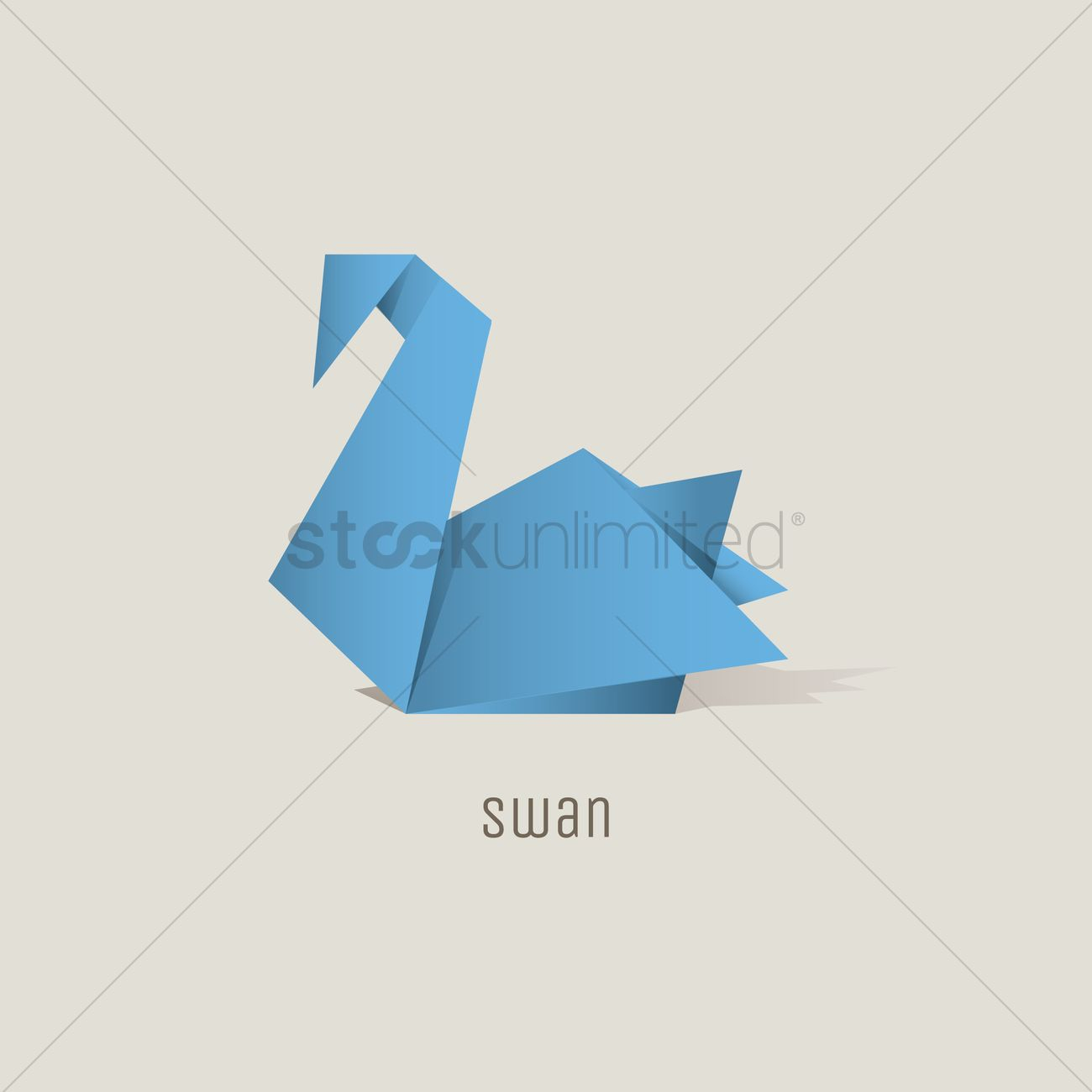 How To Origami Swan Origami Swan Vector Image 1817826 Stockunlimited