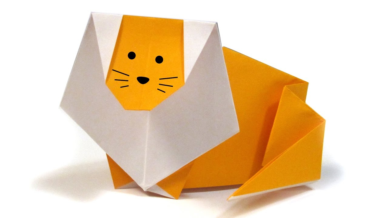 Lion Origami Easy Easy Origami Lion Easy Tutorial Origami How To Make An Origami Lion