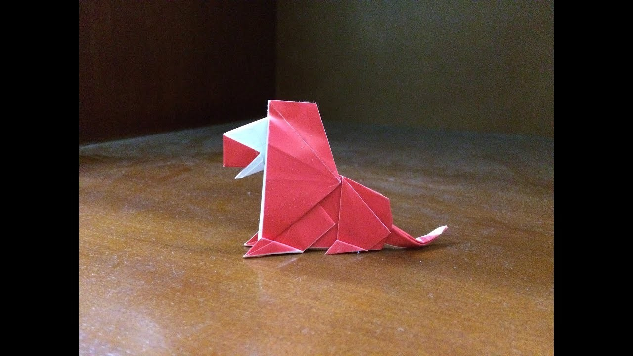 Lion Origami Easy How To Make A Paper Easy Lion Origami Easy Lion