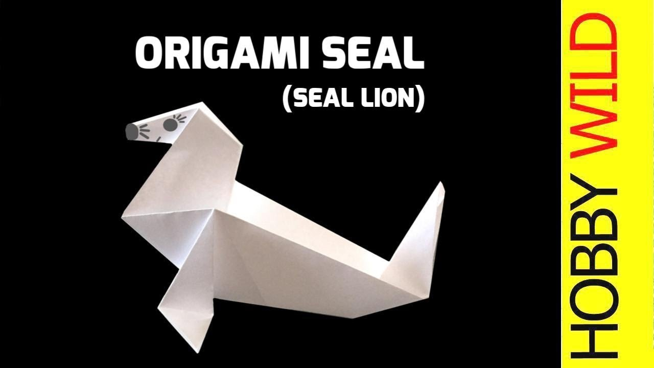 Lion Origami Easy How To Make A Paper Seal Sea Lion Origami