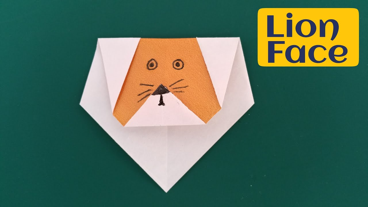 Lion Origami Easy How To Make A Super Easy Paper Lion Face Origami For Beginners