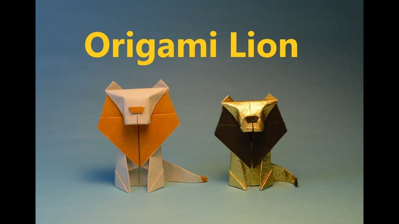 Lion Origami Easy How To Make An Easy Origami Lion